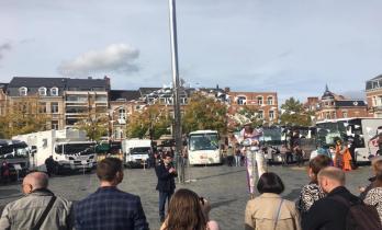 Könyvtárbusz-találkozón a hollandiai middelburgban